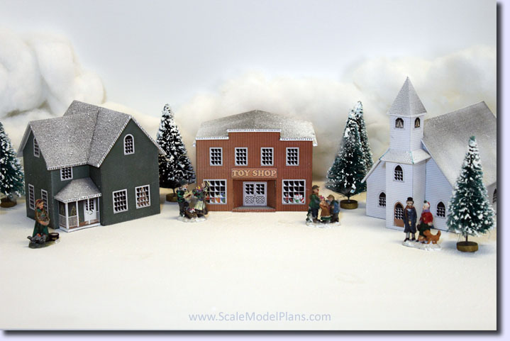 picture relating to Printable Christmas Village Template referred to as Xmas Village - Craft