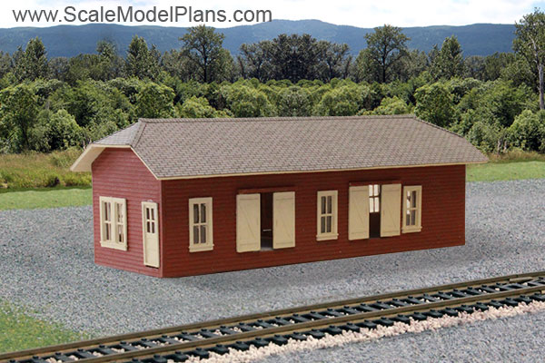 Model Railroad Building Plans in HO Scale, O Scale, OO Scale ... on railroad engine house, railroad freight yards, railroad freight cart, railroad freight sidings, railroad weigh scale house, railroad container house,