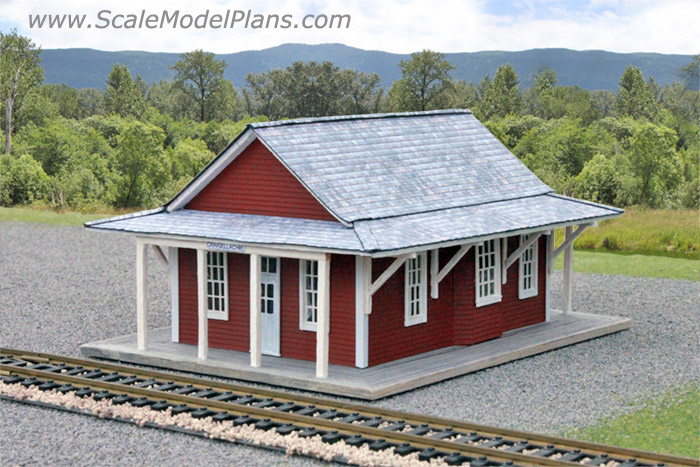 graphic relating to Ho Scale Buildings Free Printable Plans identify Type Railroad and Diorama Trackside Packages within just HO Scale, O