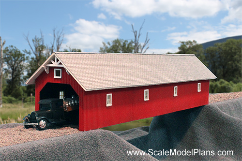 Bridge and viaduct plans for model railroad and dioramas for Covered bridge design plans