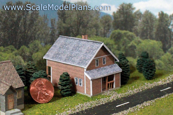 Build cardstock house model