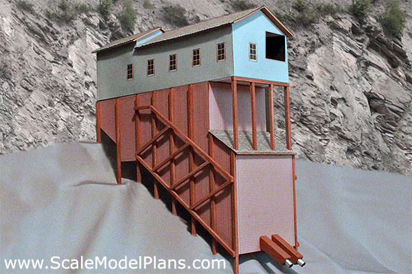 Plans for model railroad industrial buildings in ho o oo for Hillside elevator cost