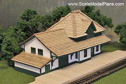 image relating to Free Printable Model Railway Buildings called Design Railroad Developing Courses in just HO Scale, O Scale, OO Scale
