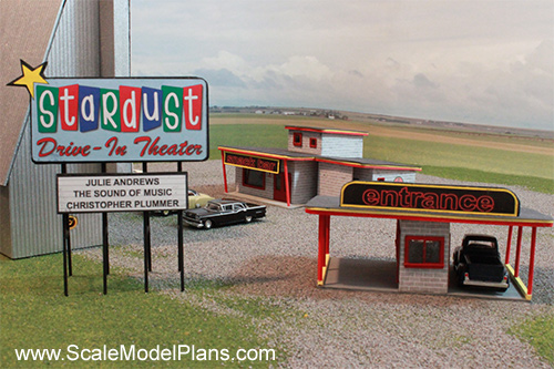 make your own drivein theater for model railroad structures
