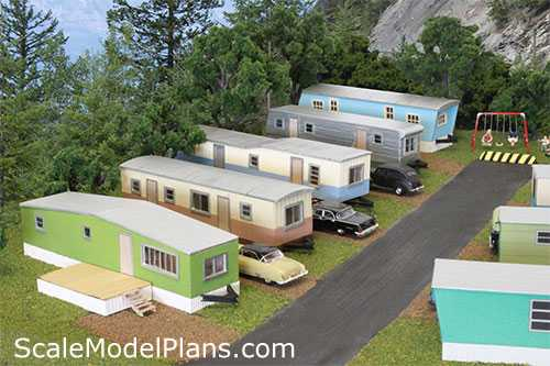 Structure plans for all popular model railroad scales for Rv park blueprints