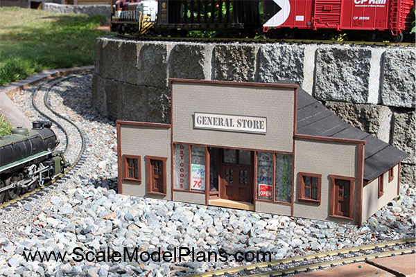 One Story Village Stores G Scale Model Railway Plans