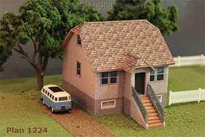 Cardstock model using Model Builder Software