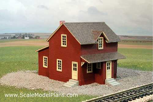 Model Railroad Structure Scratch Building Tutorial