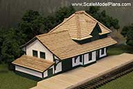 Fort Langley CNR 3rd class Depot in HO Scale