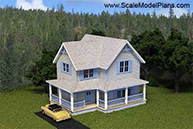 HO Scale model structure - Victorian home