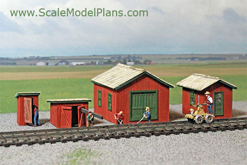 Model Railroad Building Plans in HO Scale, O Scale, OO Scale, and N