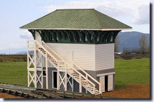model train control tower