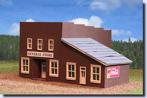 image relating to Ho Scale Buildings Free Printable Plans identify HO, N, O and OO Scale Fashion Acquiring Designs for Railroads and