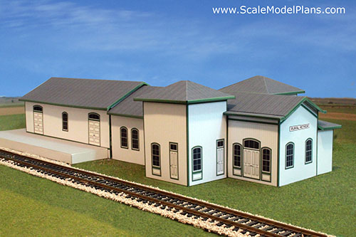 A worthy cause model train forum the complete model for Railroad depot plans