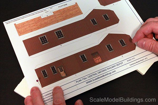 photo about Ho Scale Buildings Free Printable Plans named Cardstock Fashion Designing for Type Trains