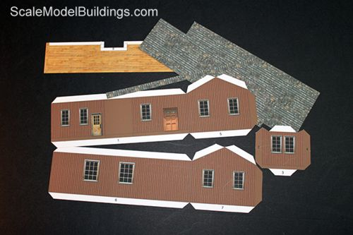 graphic about Ho Scale Buildings Free Printable Plans named Cardstock Fashion Establishing for Fashion Trains