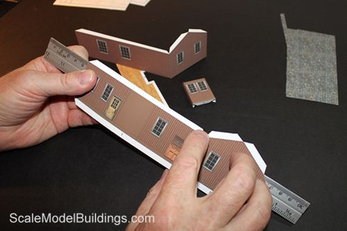picture regarding Printable Model Railroad Buildings called Cardstock Design and style Acquiring for Style Trains