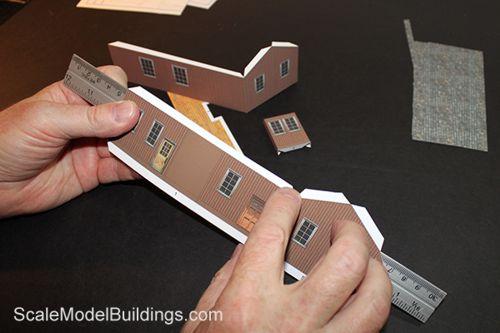Cardstock Model Building for Model Trains
