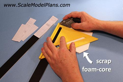 how to cut foam board 45 degree