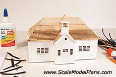 scratch build model railroad building