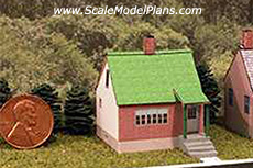 Z scale cardstock building